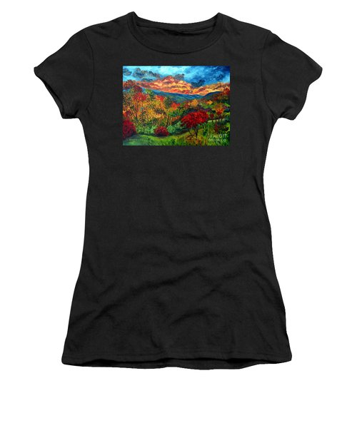 Sunset In Shenandoah Valley Women's T-Shirt (Athletic Fit)