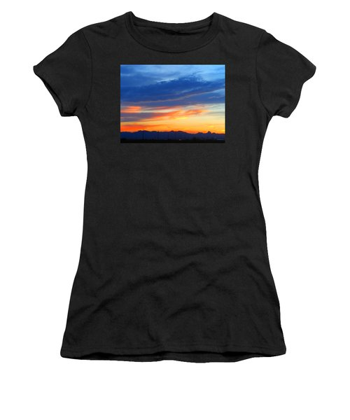 Sunset In The Black Mountains Women's T-Shirt (Athletic Fit)