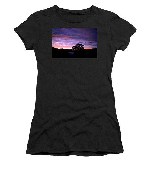 Sunset Lake Women's T-Shirt (Junior Cut) by Matt Harang