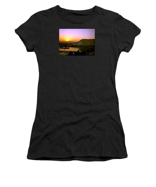 Sunset On Cotton Castles Women's T-Shirt (Athletic Fit)