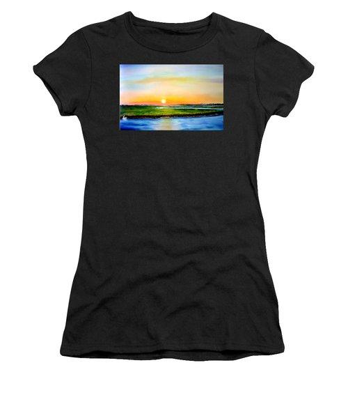Sunset On The Marsh Women's T-Shirt