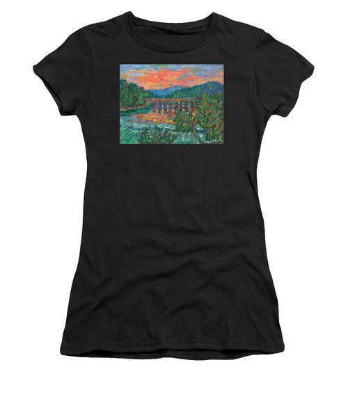 Sunset On The New River Women's T-Shirt