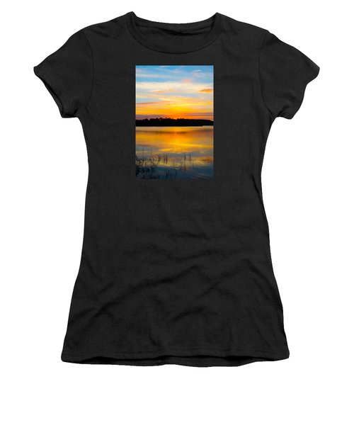 Sunset Over The Lake Women's T-Shirt (Athletic Fit)