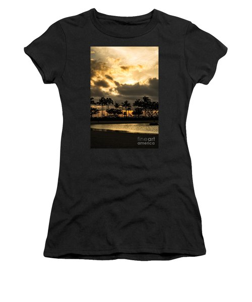 Sunset Over Waikiki Women's T-Shirt (Athletic Fit)