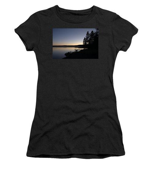Sunset Over Yellowstone Lake Women's T-Shirt