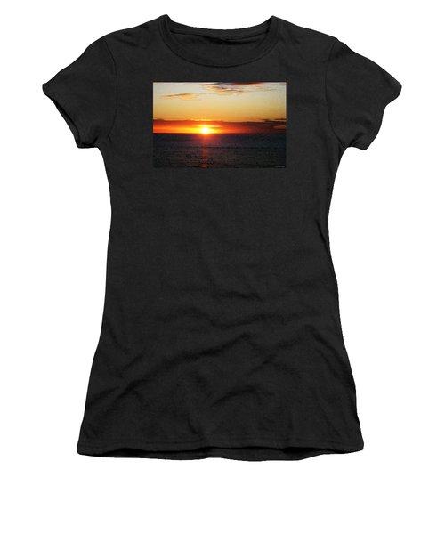 Sunset Painting - Orange Glow Women's T-Shirt (Athletic Fit)