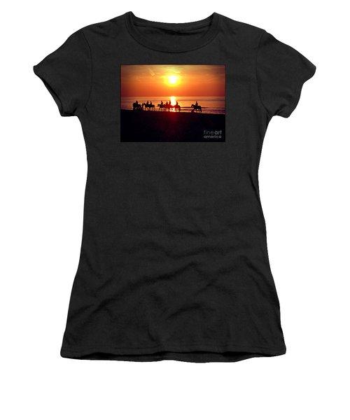 Sunset Past Time Women's T-Shirt (Junior Cut) by Nina Ficur Feenan
