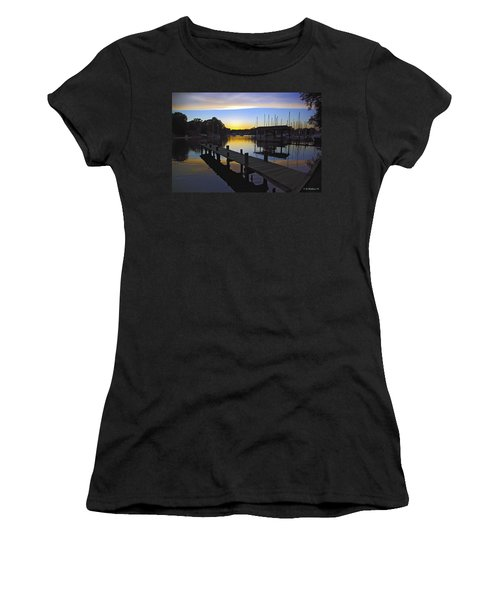 Women's T-Shirt (Junior Cut) featuring the photograph Sunset Silhouette by Brian Wallace