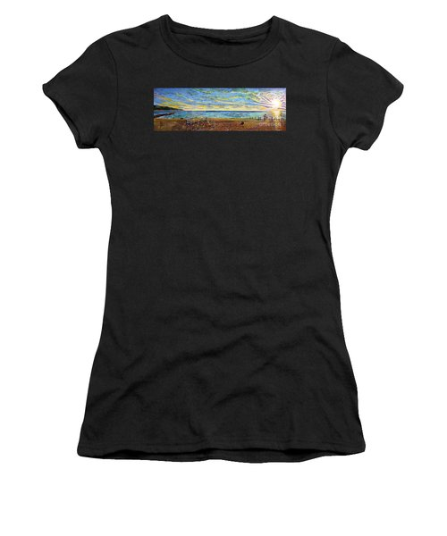 Sunset Volleyball At Old Silver Beach Women's T-Shirt (Athletic Fit)