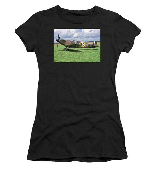 Women's T-Shirt featuring the photograph Supermarine Spitifire 1a by Paul Gulliver