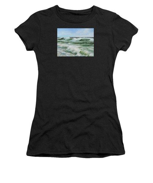 Surf At Castlerock Women's T-Shirt (Athletic Fit)