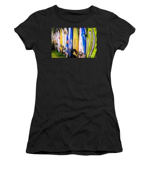 Surfboard Fence Maui Hawaii Women's T-Shirt