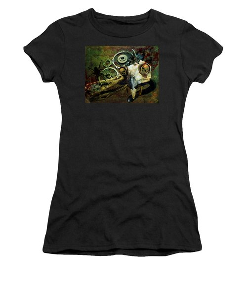 Women's T-Shirt (Junior Cut) featuring the painting Surreal Nightmare by Ally  White