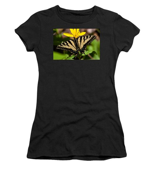 Swallowtail Butterfly Women's T-Shirt (Athletic Fit)