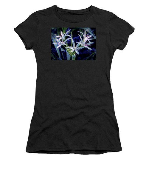 Women's T-Shirt (Athletic Fit) featuring the photograph Swamp Lilies by Steven Sparks