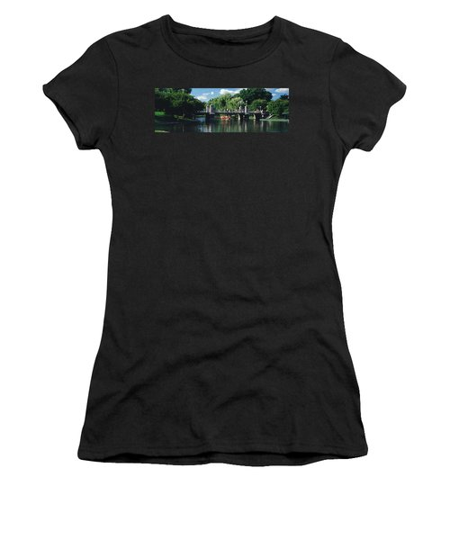 Swan Boat In The Pond At Boston Public Women's T-Shirt