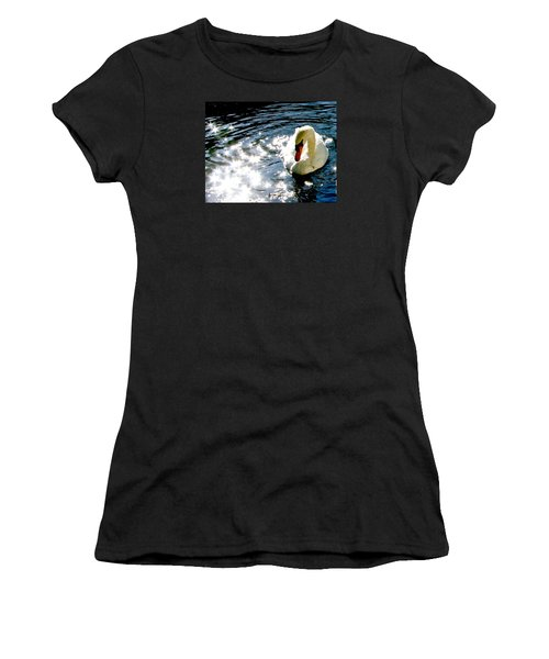 Swan In Sun Sparkles 02 Women's T-Shirt (Athletic Fit)