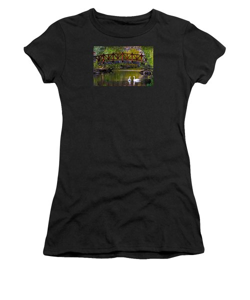 Swans At Caughlin Ranch II Women's T-Shirt (Junior Cut) by Janis Knight