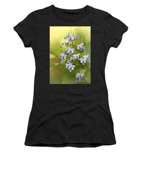 Sweet Butterfly Flowers Women's T-Shirt (Athletic Fit)