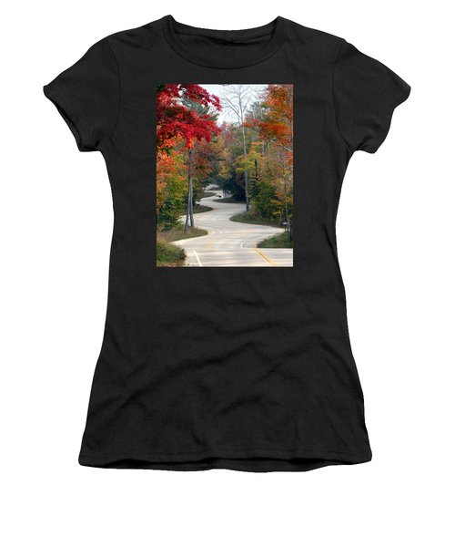 Swervy Road At North Port Women's T-Shirt