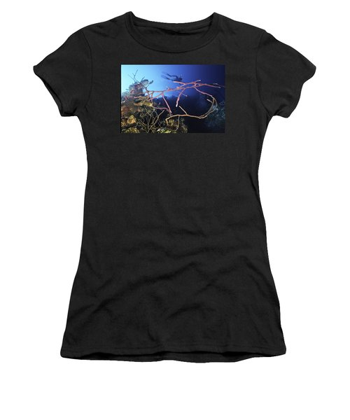 Swimming Over The Edge Women's T-Shirt