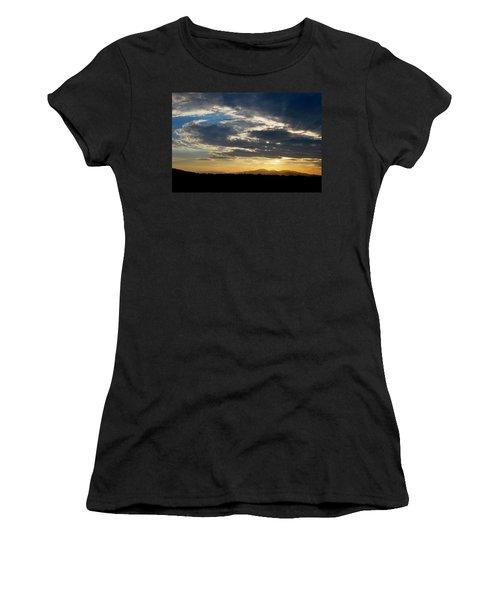 Swirl Sky Landscape Women's T-Shirt (Junior Cut) by Matt Harang