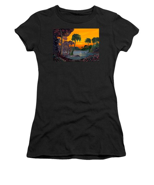 Tahitian Sunset Women's T-Shirt (Junior Cut) by Glenn Holbrook