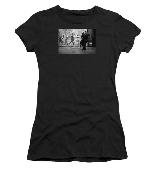 Tango Dancers In Buenos Aires Women's T-Shirt (Athletic Fit)