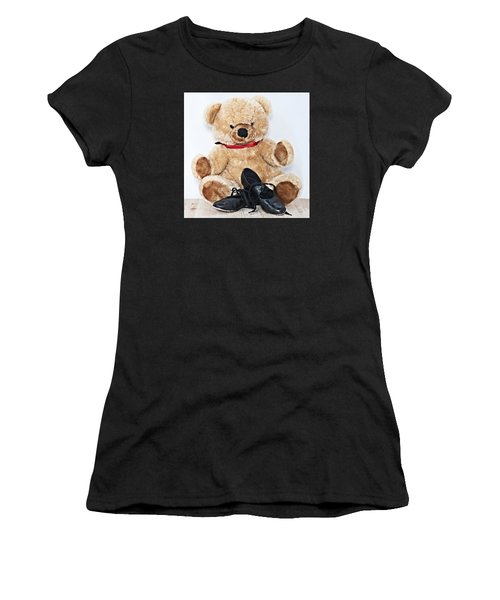 Tap Dance Shoes And Teddy Bear Dance Academy Mascot Women's T-Shirt (Athletic Fit)