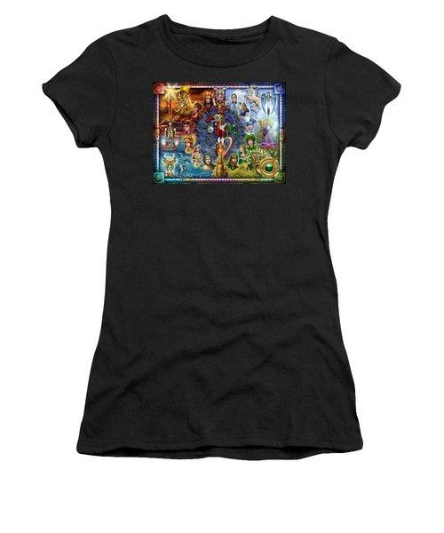 Tarot Of Dreams Women's T-Shirt (Junior Cut) by Ciro Marchetti