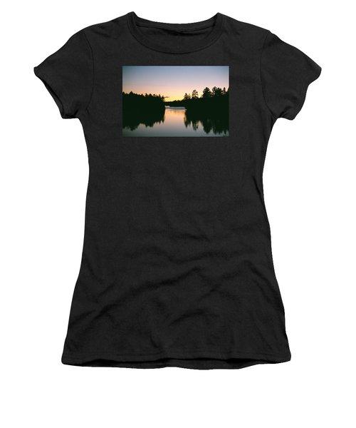 Tea Lake Sunset Women's T-Shirt (Athletic Fit)