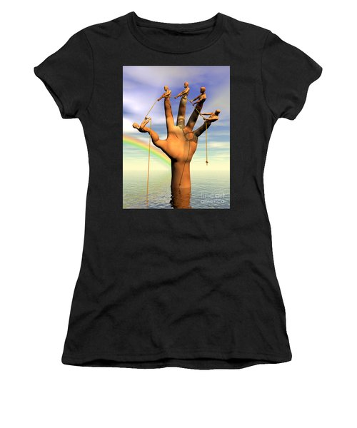 The Hand Is The Sum Of Its Fingers Women's T-Shirt