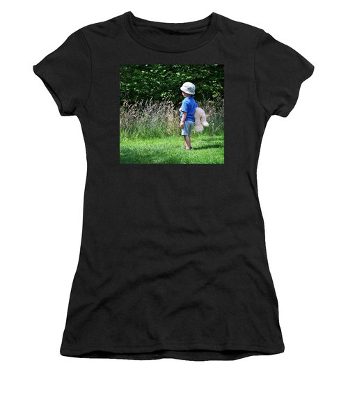 Women's T-Shirt (Junior Cut) featuring the photograph Teddy Bear Walk by Keith Armstrong