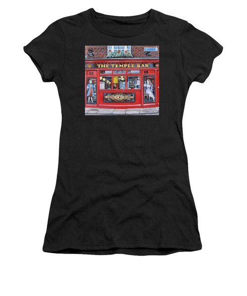 Temple Bar Dublin Ireland Women's T-Shirt (Athletic Fit)