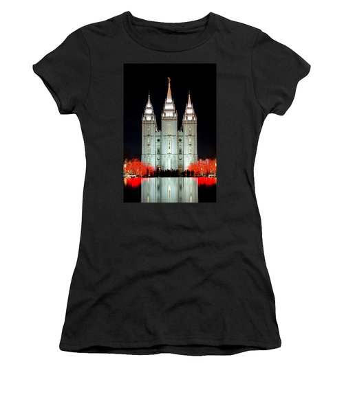 Temple Lights Women's T-Shirt (Athletic Fit)