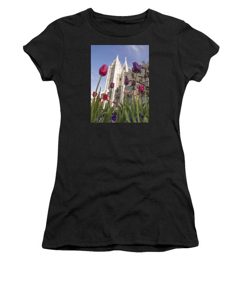 Temple Tulips Women's T-Shirt (Athletic Fit)