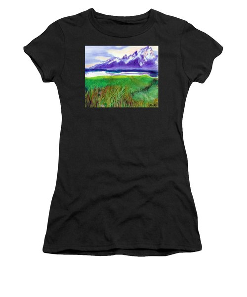 Teton View Women's T-Shirt (Athletic Fit)
