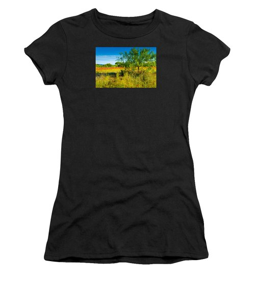 Women's T-Shirt featuring the photograph Texas Hill Country Wildflowers by Darryl Dalton