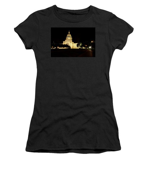 Women's T-Shirt (Junior Cut) featuring the photograph Texas State Capitol by Dave Files