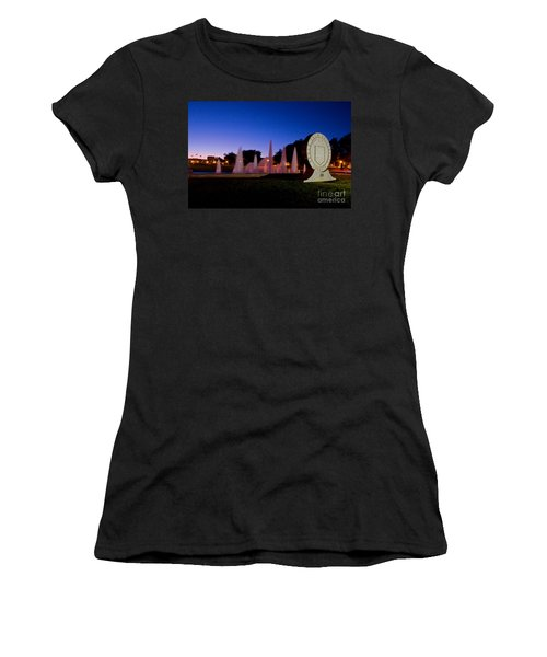 Women's T-Shirt featuring the photograph Texas Tech University Seal And Blue Sky by Mae Wertz