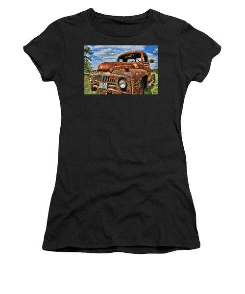 Women's T-Shirt (Junior Cut) featuring the photograph Texas Truck by Daniel Sheldon