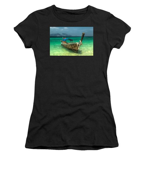 Thai Boat  Women's T-Shirt (Athletic Fit)