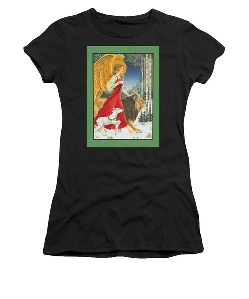 The Angel The Lion And The Lamb Women's T-Shirt