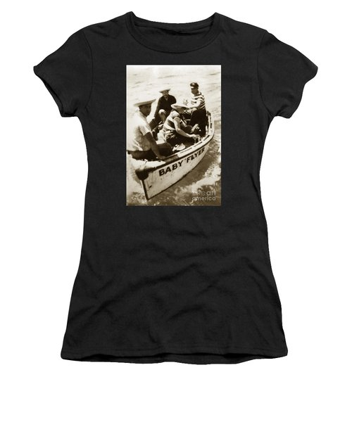 The Baby Flyer With Ed Ricketts And John Steinbeck  In Sea Of Cortez  1940 Women's T-Shirt (Athletic Fit)