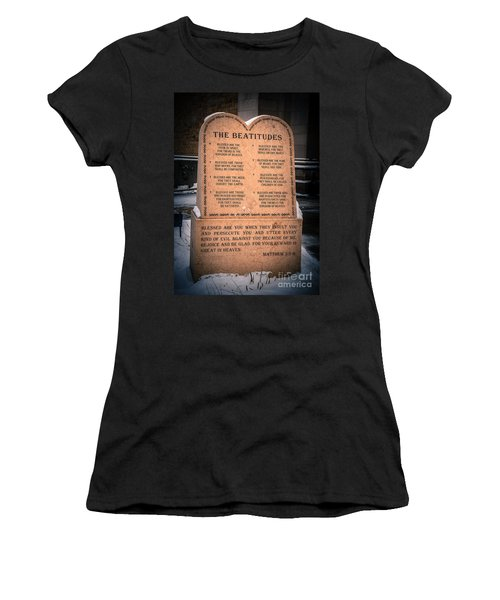 The Beatitudes Women's T-Shirt (Athletic Fit)