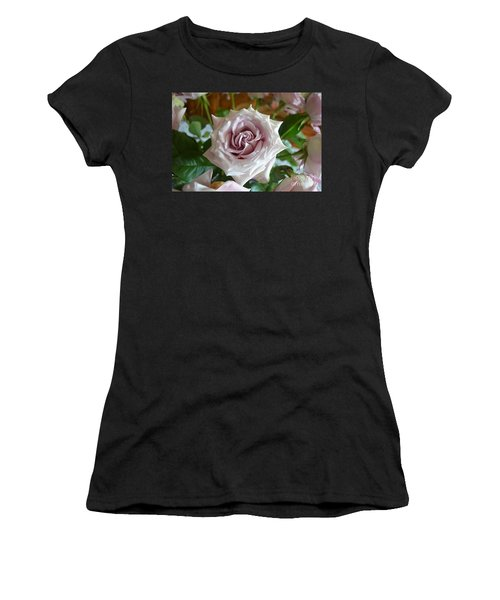 Women's T-Shirt (Junior Cut) featuring the photograph The Beauty Of A Flower by Jim Fitzpatrick