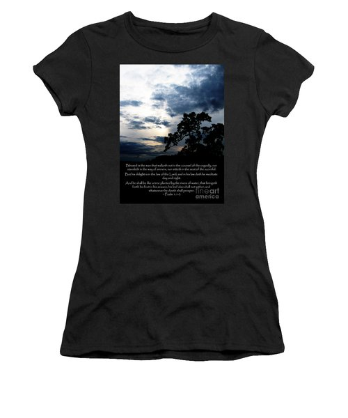 The Bible Psalm 1 Women's T-Shirt (Athletic Fit)