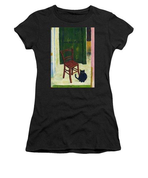 The  Black Cat Women's T-Shirt (Athletic Fit)