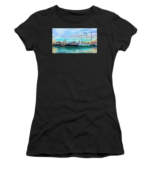 The Boats Of Malaga Spain Women's T-Shirt