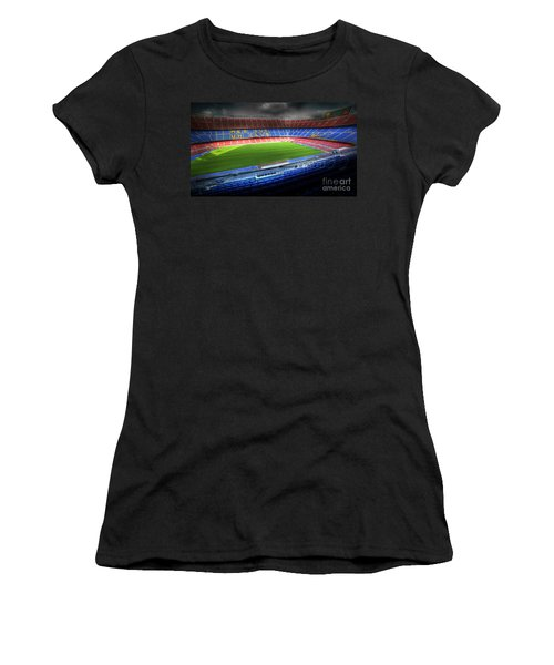 The Camp Nou Stadium In Barcelona Women's T-Shirt (Athletic Fit)